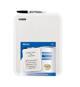 BAZIC 8.5 X 11 Dry Erase Board with Marker