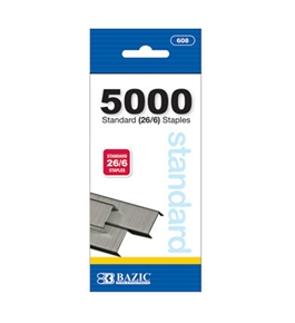 BAZIC 5000 Ct. Standard (26/6) Staples