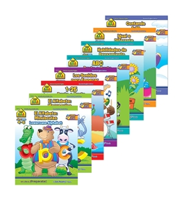 SCHOOL ZONE Assorted Bilingual Workbooks