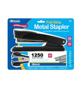BAZIC Metal Full Strip Stapler Set