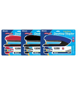 BAZIC Desktop Full Strip Stapler Set
