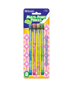 BAZIC Fancy Multi-Point Pencil (8/Pack)