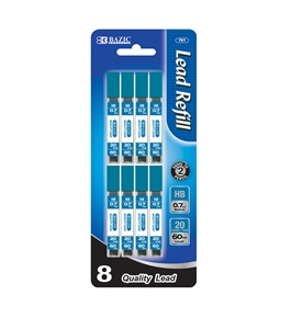BAZIC 20 Ct. 0.7mm Mechanical Pencil Leads (8/pack)