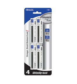 BAZIC 20 Ct. 0.7mm Ceramics Hi-Quality Mechanical Pencil Lead (4/Pack)