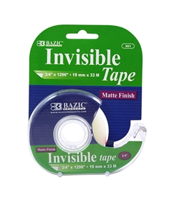 BAZIC 3/4 x 1296 Invisible Tape with Dispenser