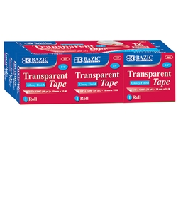 BAZIC 3/4 X 1296 Transparent Tape Refill (12/Pack)