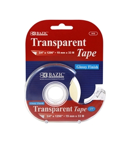 BAZIC 3/4 X 1296 Transparent Tape with Dispenser