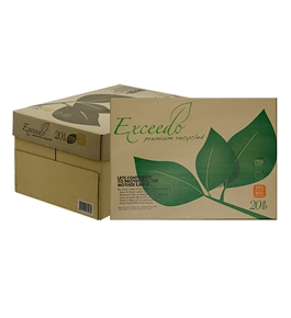 EXCEEDO (93) 8.5 X 11 30% Recycled White Copy Paper (10 Reams/Case)