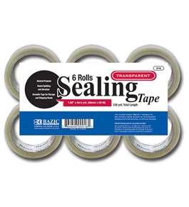 BAZIC 1.88 X 54.6 Yards Clear Packing Tape (6/pack)