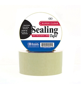 BAZIC 1.88 X 109.3 Yards Clear Packing Tape