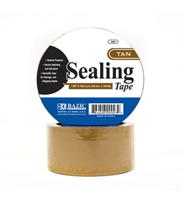 BAZIC 1.88 X 109.3 Yards Tan Packing Tape