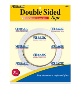 BAZIC 1 X 20 Yard (720) Double Sided Tape