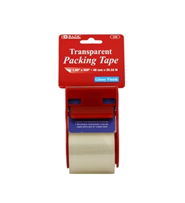 BAZIC 1.88 X 800 Clear Packing Tape with Dispenser