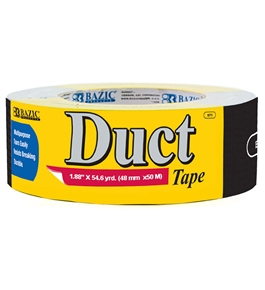 BAZIC 1.88 X 60 Yards Black Duct Tape