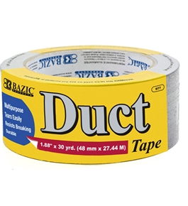 BAZIC 1.88 X 30 Yards Silver Duct Tape