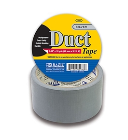 BAZIC 1.88 X 10 Yards Silver Duct Tape