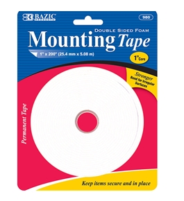 BAZIC 1 X 200 Double Sided Foam Mounting Tape