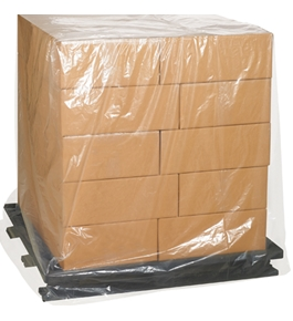 "46"" x 36"" x 65""  - 2 Mil Clear Pallet Covers - BL4636"