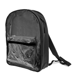 15 Black Clear Front Backpack