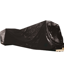 20' x 100' - 4 Mil Black Poly Sheeting - CF420B