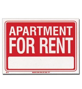 12 X 16 Apartment For Rent Sign