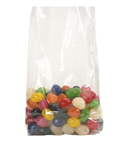 "7"" x 4"" x 18"" - 2 Mil Gusseted Poly Bags - PB1563"