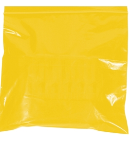"9"" x 12"" - 2 Mil Yellow Reclosable Poly Bags - PB3645Y"