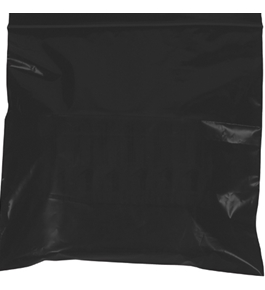 "10"" x 12"" - 2 Mil Black Reclosable Poly Bags - PB3655BK"