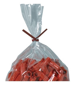 "7"" x 5/32"" Red Paper Twist Ties - PBT7R"