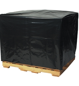 "51"" x 49"" x 73""  - 3 Mil Black Pallet Covers - PC140"