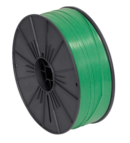 "5/32"" x 7000' Green Plastic Twist Tie Spool - PLTS532G"