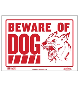 BAZIC 9 X 12 Beware of Dog Sign