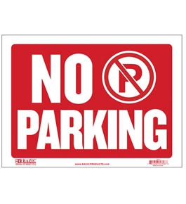 BAZIC 9 X 12 No Parking Sign