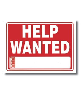 9 X 12 Help Wanted Sign