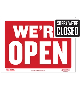 BAZIC 9 X 12 Open Sign with Closed Sign on Back