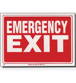9 X 12 Emergency Exit Sign