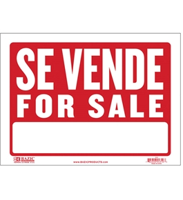 BAZIC 9 X 12 Se Vende Sign