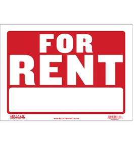BAZIC 9 X 12 For Rent Sign