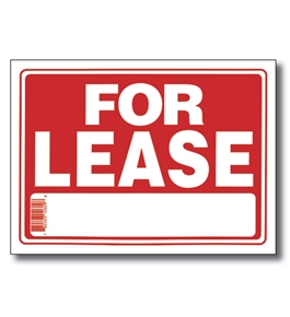 BAZIC 9 X 12 For Lease Sign