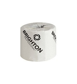 Brighton Professional 2-Ply Standard Bath Tissue; 500 Sheets/Roll, 96 Rolls/Case