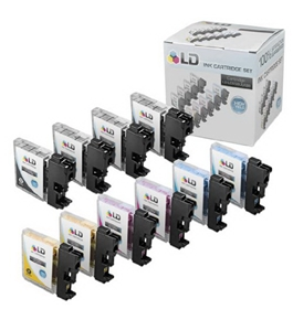 Brother Compatible LC65 Bulk Set of 10 High Yield Ink Cartridges: 4 Black & 2 each of Cyan / Magenta / Yellow