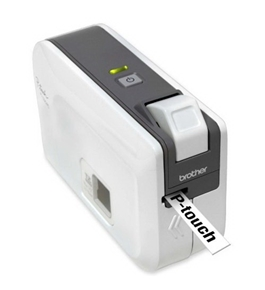 "Brother International Corp Label Printer, Thermal, 180Dpi, 2-1/10""X6-1/5""X4-2/5"", We/Gy"