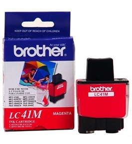 Brother LC41M Ink Cartridge, 400 Page Yield, Magenta
