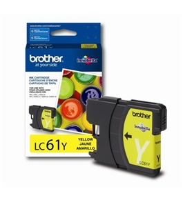 Brother LC61Y Ink Cartridge, 500 Page-Yield, Yellow
