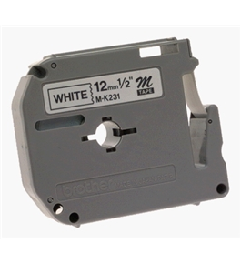 Brother M231 1/2-Inch Black on White Tape for P-Touch Labeler