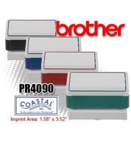 Brother PR4090B6P model PR4090 Pre-inked Stamp for use with Brother Stampcreator Pro System SC-2000,Box of 6 40X90MM, Black