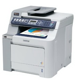 Brother refurbished color laser fax, copier, printer, scanner with network MFC9120CNRF