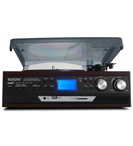 Boytone BT-17DJM MULTI RPM TURNTABLE WITH SD/AUX/USB/RCA/3.5mmCONNECTIVITY ENCODE VINYL & RADIO TO MP3 AND ENJOY MP3 OR WMA PLAYBACK ON USB OR SD.
