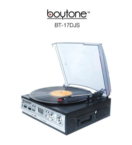 Boytone BT-17DJS 3-Speed Stereo Turntable Belt drive with 2 Built in Speakers Digital