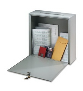 Buddy Products Inter-Office Mailbox, Steel, Small, 3 x 10 x 12 Inches, Platinum (5625-32)